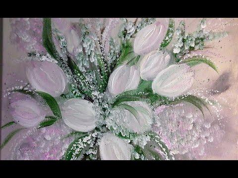 Tulpen-Einfach Malen -Für Anfänger in Echtzeit-Easy Paiting - For beginners real time / V50