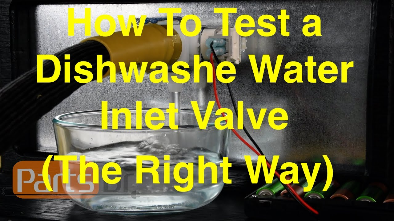 If your dishwasher is not filling with water or filling with water while it is not in use then you should test the water inlet valve.  This video shows step by step instructions on how to test your dishwashers water inlet valve.