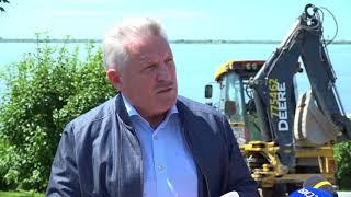 Вячеслав Шпорт проинспектировал гидрозащитные сооружения на краевой набережной