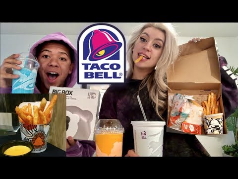 TRYING NEW TACO BELL FRIES (MUKBANG)