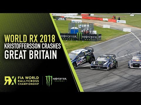 Kristoffersson Big Crash in Semi-Final 1 | Cooper Tires World RX of Great Britain