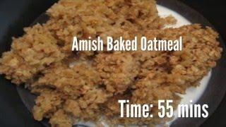 Amish Baked Oatmeal Recipe