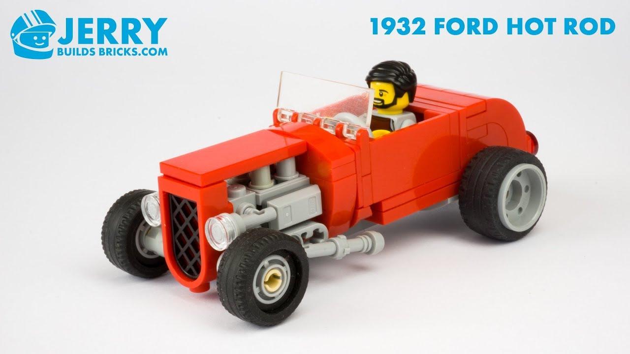 LEGO 1932 Ford Roadster Hot Rod instructions (MOC #108)