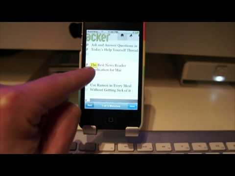 Quickly Search The Contents Of Web Pages From iPhone Browser