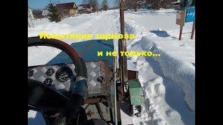 Самодельный трактор.Процесс сборки.Испытание тормоза #120