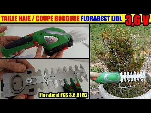 Coupe-bordures taille-haies LIDL FLORABEST FGS A1 B2 sans fil Cordless Grass & Shrub Trimmer