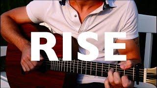 (Jonas Blue Ft. Jack & Jack) Rise   Fingerstyle Guitar Cover