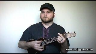 Nirvana Rape Me Ukulele Lesson (how to play tutorial with tabs and chords) Kurt Cobain