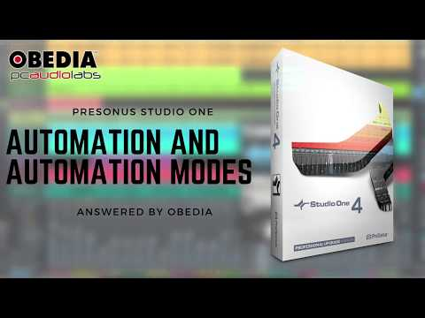 Get Started with Studio One: Automation Modes Overview in #StudioOne