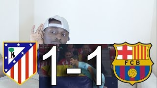 Atletico Madrid VS FC Barcelona 1-1 ● All Goals: Reaction