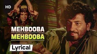 Mehbooba Mehbooba With Lyrics - YouTube