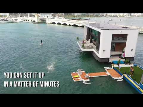 NautiBuoy's inflatable platforms that can dock anywhere!