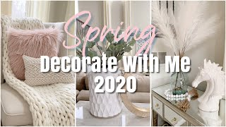 SPRING 2020 DECORATE WITH ME   SPRING DECOR INSPIRATION