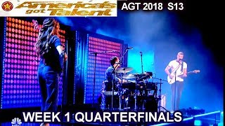 "We Three sings "" So They Say"" original song  Quarterfinals 1 America's Got Talent 2018 AGT"
