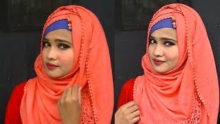 HIJAB STYLE WITH KAMIJ AND BEAUTIFUL HIJAB PINS BY GIRLS BEAUTY TIPS