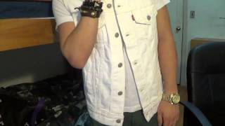 Bought A White Levi Denim Vest At Urban Outfitters :)