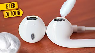 How to Clean EarPods/Apple AirPods: remove wax cleaning your earphones/earbuds safely - easy!