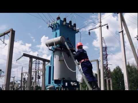 Встановлення заземлення на проводи перекидки 10 кВ