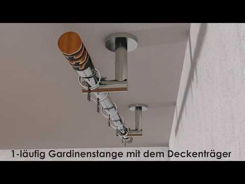 Montageanleitung, 1-lfg. Gardinenstange für Deckenbefestigung, mille