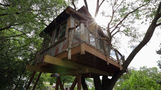 Rusty Rooted River Shack Treehouse