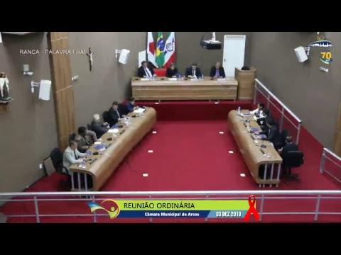 Reunião Ordinária (03/12/2018) - Câmara de Arcos