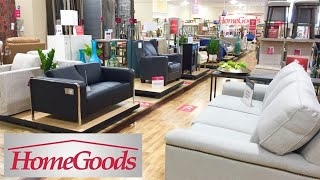 HOMEGOODS HOME FURNITURE SOFAS COUCHES ARMCHAIRS DECOR SHOP WITH ME SHOPPING STORE WALK THROUGH