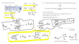 Time of Flight Mass Spec - Tackling Maths Questions