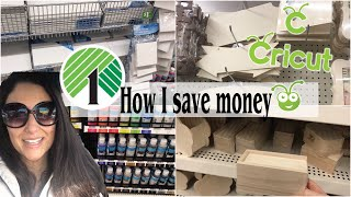 DOLLAR TREE SHOP WITH ME How To Save Money On Craft Supplies