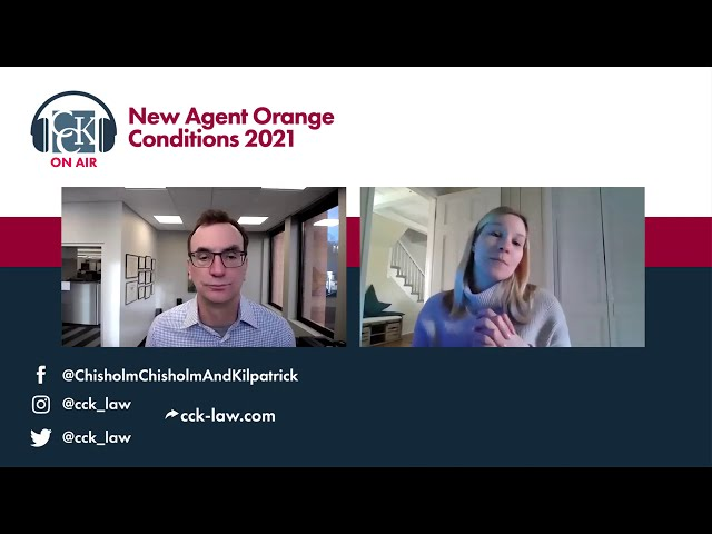 New Agent Orange Presumptive Diseases: 2021 Update