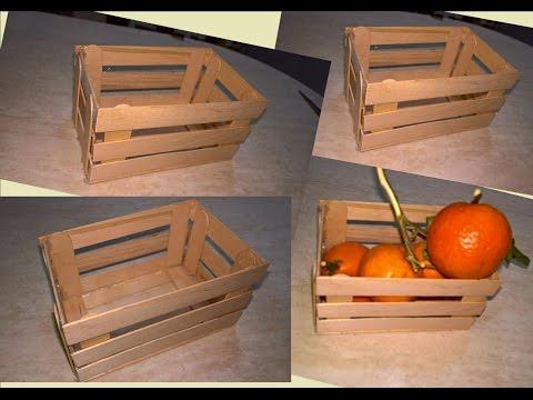 Mini cassettina di legno con gli abbassalingua