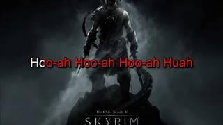 Skyrim Theme - Dovakiin Karaoke timed lyrics
