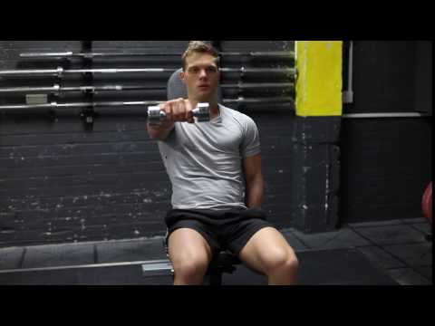 Single Arm Seated Dumbbell Front Raises
