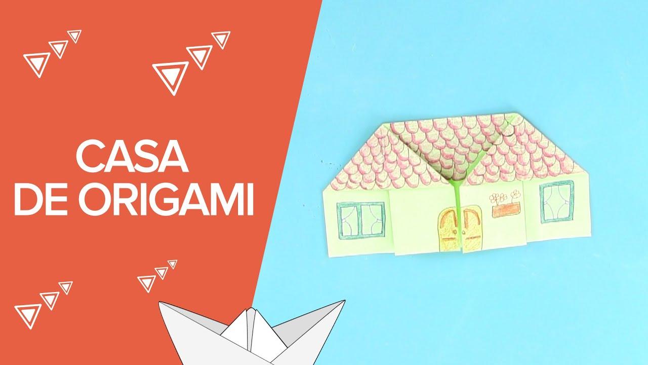 Casa de papel de origami | Papiroflexia para niños