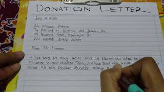 How to Write a Donation Letter for Charity Program - Writing Practices