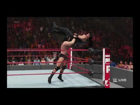 WWE 2K Tonight July 19th Monday Night RAW Drew McIntrye Assaults Reigns 2019