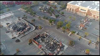 Wildfire 2017 California-Drone footage-Buildings Burned-Trees Untouched!Officials Asked about DEW | Kholo.pk