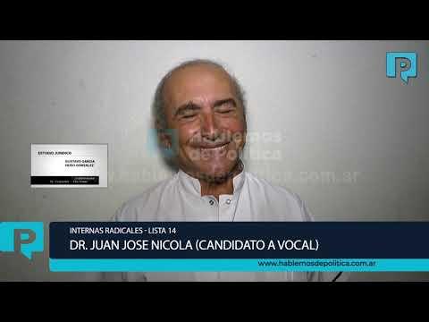 Nota al Dr. Juan José Nicola, ex presidente del comité UCR