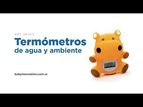 Termómetro de Agua y Ambiente Baby Innovation Amarillo video