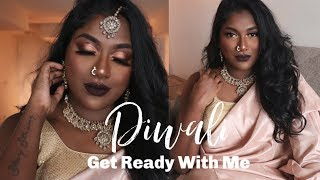 INDIAN / TAMIL GRWM : DIWALI MAKEUP AND OUTFIT