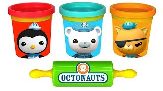 Octonauts Play Doh Molds with Captain Barnacles Peso Kwazii Learn Colors with Play Doh Fun for Kids