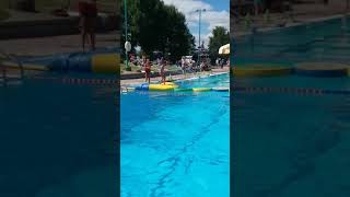 Kya Vs The Floating Obstacle Course! Amazon Pool In Oregon