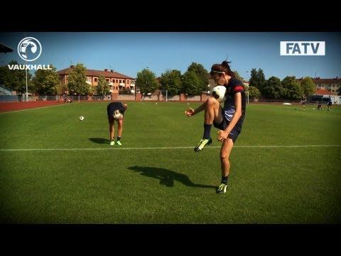 TEKKERS: England women skills in training at Euro 2013