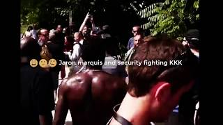 KKK vs rapper Jaron Marquis fight security at LA Park Concert