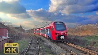 Rail traffic in Serbia - Sremski Karlovci 2016. - Železnički saobraćaj u Srbiji [4K]