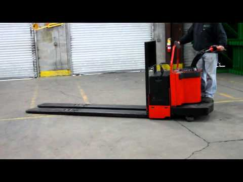 Standing electric pallet jack premixed self leveling concrete