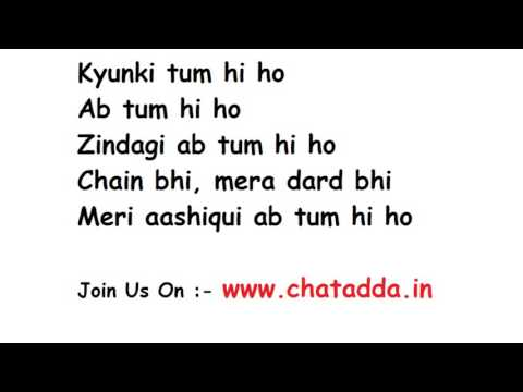 Tum Hi Ho From Aashiqui 2 Lyrics
