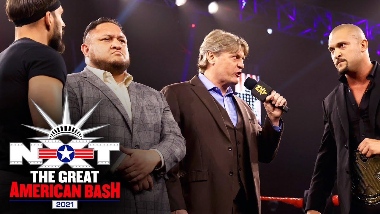 William Regal And Samoa Joe Oversee Johnny Gargano Vs. NXT Champion Karrion Kross Face-Off