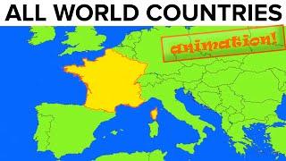 All World Countries · Map + Flag + Capital City + Pronunciation