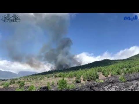 شاهد بالفيديو.. إجلاء ألفي شخص بسبب ثوران بركان «لا بالما» الإسبانية