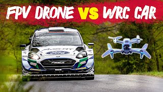 WRC Car vs FPV Drone - High Speed Chase   WRC 2021
